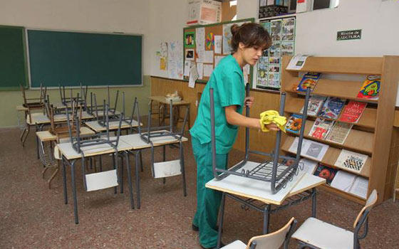 Curso de Limpieza de Colegios